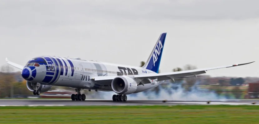 ANA operates a 787 in Star Wars livery.