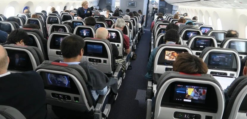 The back of the AA 787 Dreamliner cabin. Image courtesy of the author.