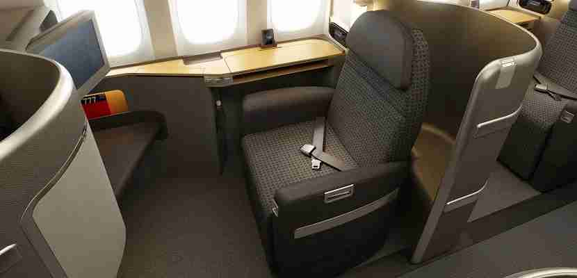 American Airlines first class seat featured