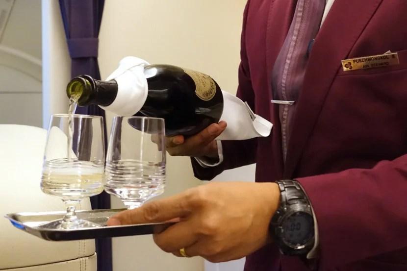 Thai servesDom Perignon Champagne on all first-class flights.