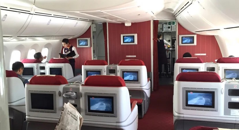 Business class in Hainan's 787.