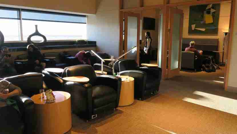 The Club DFW: a rather small lounge, but available with Priority Pass membership.