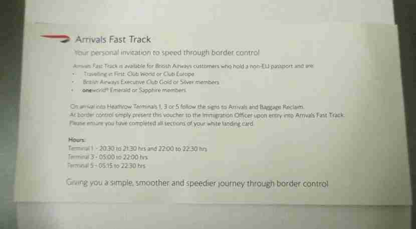 This fast track would
