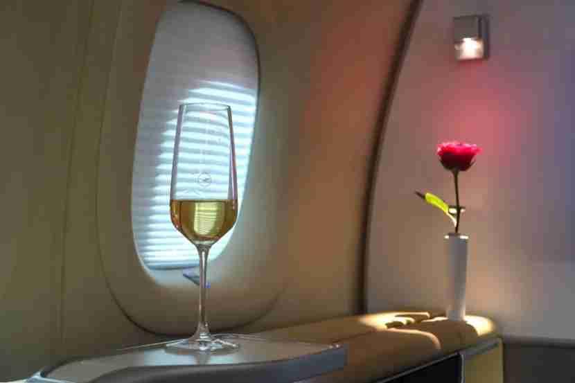 First class on Lufthansa