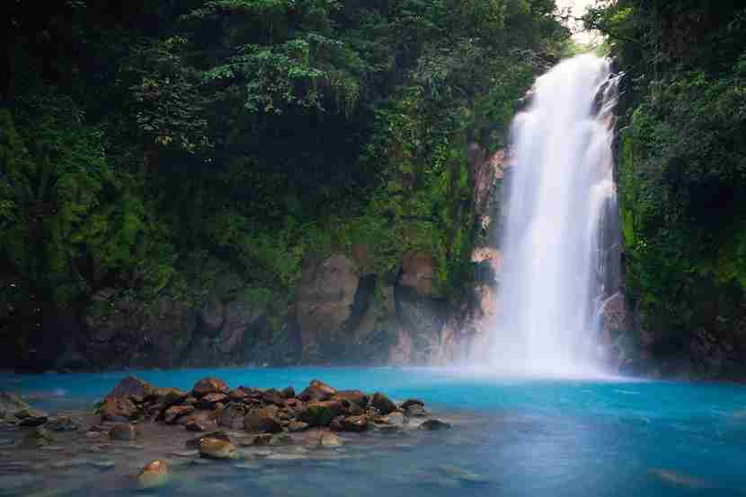 The striking blue Rio Celeste is one of Costa Rica