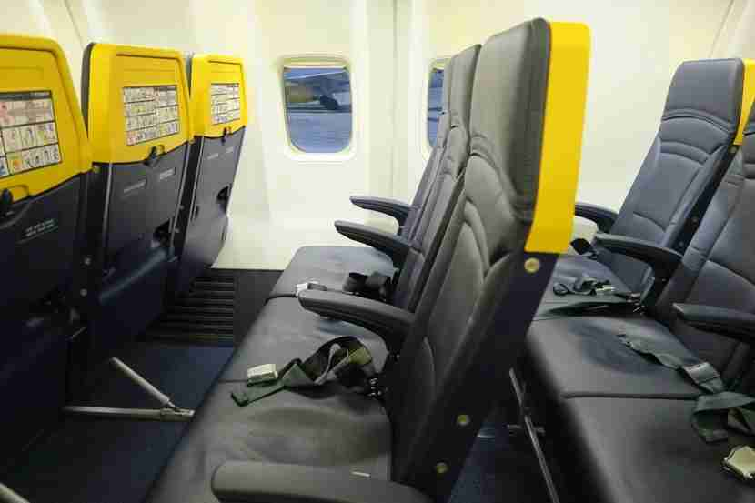 Seats on Ryanair 737-800. Photo by the author.