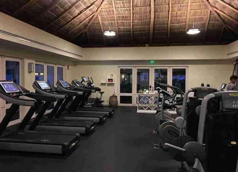 The fitness center never felt too crowded.
