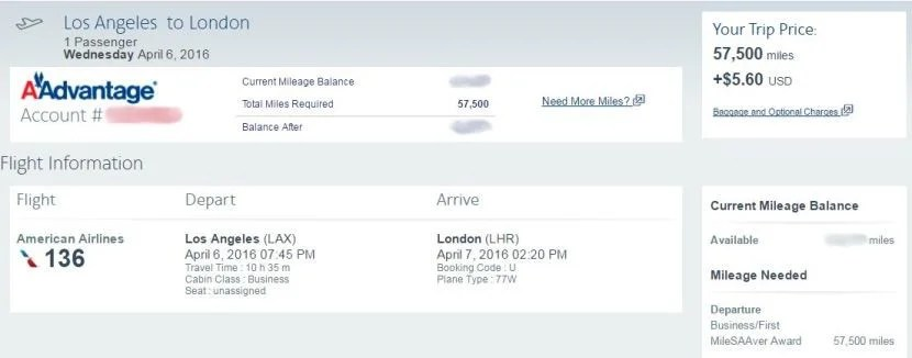 Fly one-way to London in business class for just over $1,000.