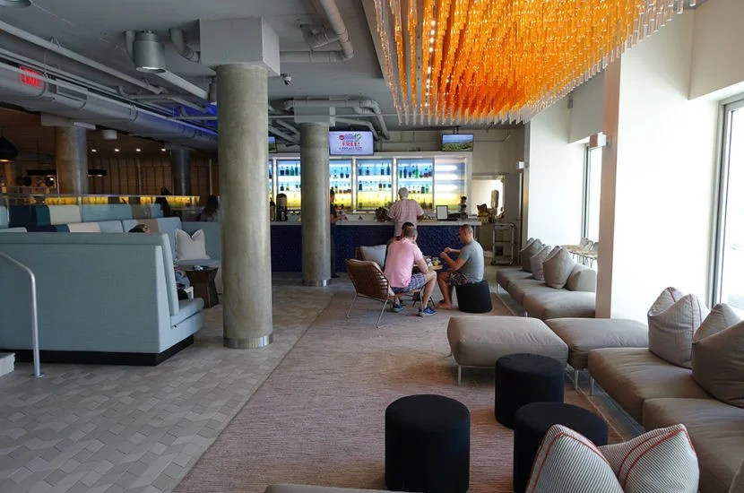 The w xyz bar that looks out to the pool area.