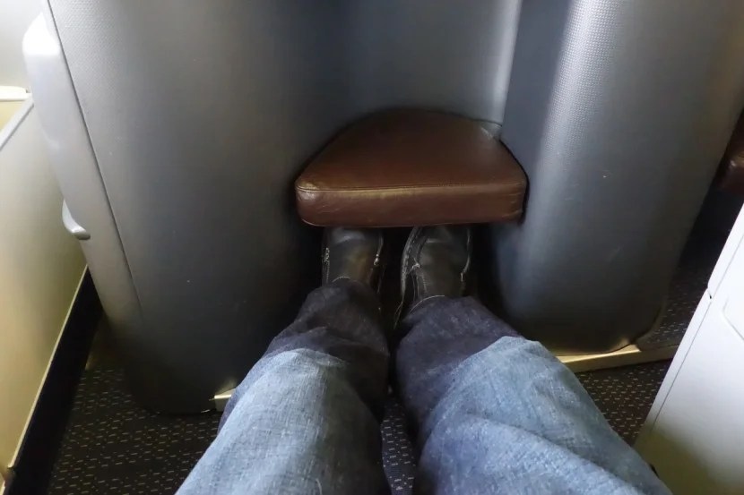 The foot well (above my feet) is a little tight.