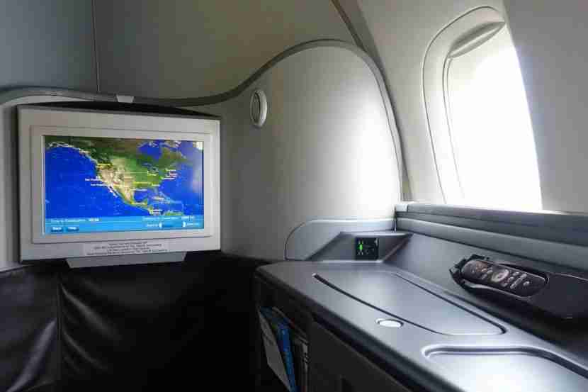First-class passengers have the same 15-inch display.