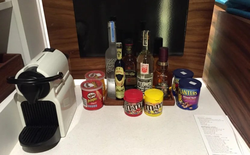 The minibar prices were actually quite reasonable.
