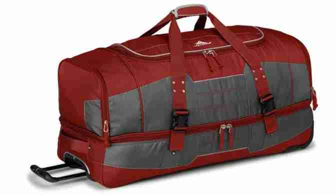 High Sierra offers wheeled bags that double as duffels or backpacks. Image courtesy of High Sierra.