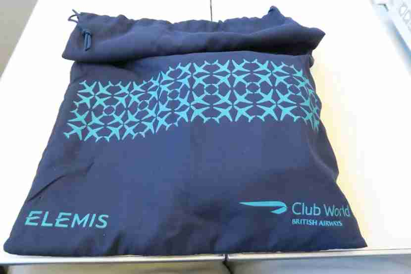Amenity kits were handed out soon after takeoff and came in a nice draw-string bag.