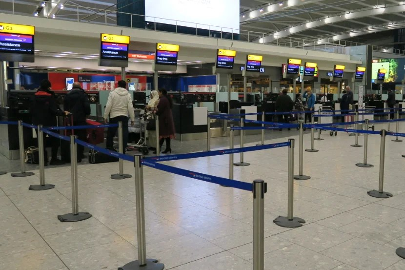 There were ample check-in counters available at LHR.