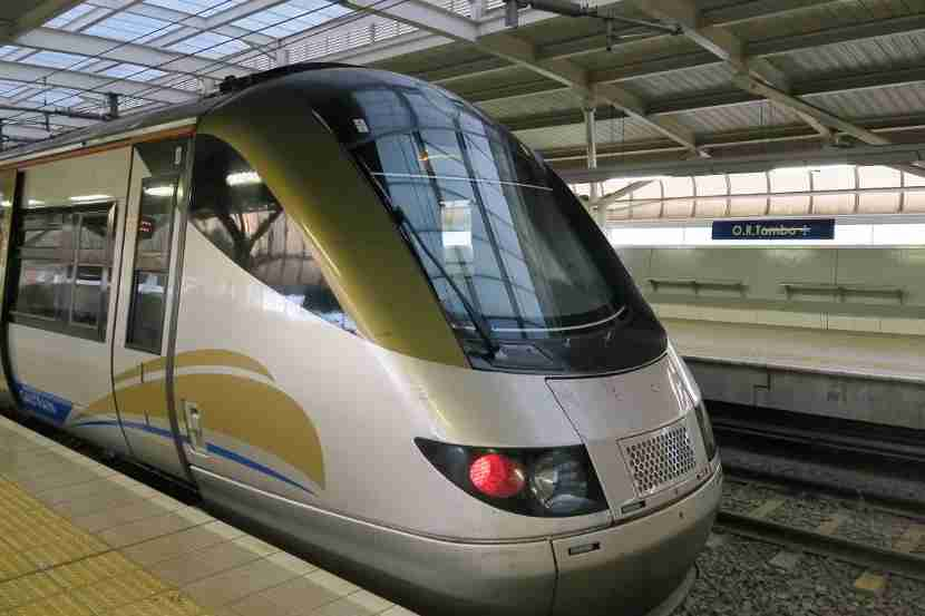 The Gautrain provided a quick and comfortable ride to the airport.