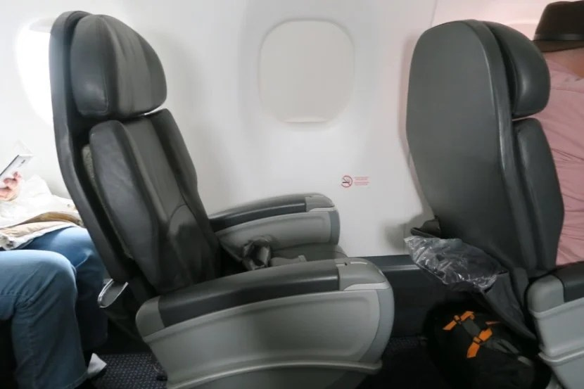 I used two 500-mile upgrades to upgrade my IAH-ORD flight to this comfortable Embraer first class seat.