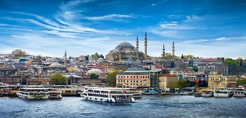 View of Istanbul from the Bosphorus, Image courtesy of Shutterstock