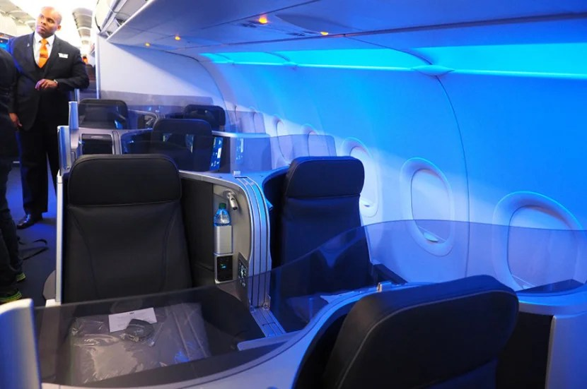 In Mint, there are two rows with two suites and two rows with four seats.