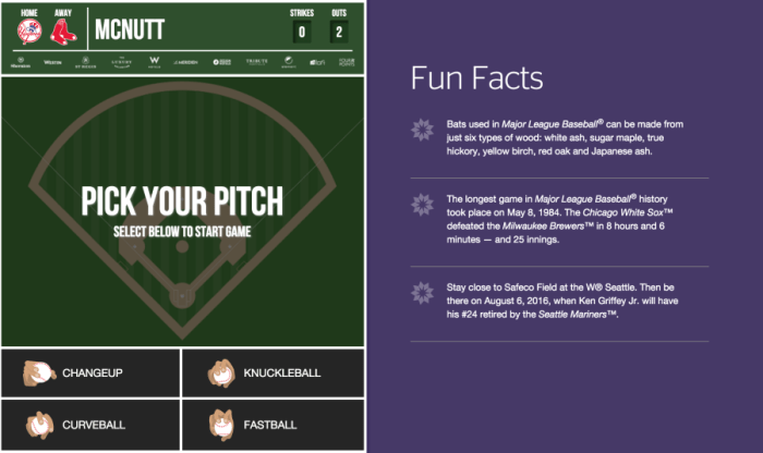You'll pick your teams and pitch to determine if you win.