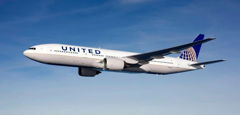 A United 777-200.