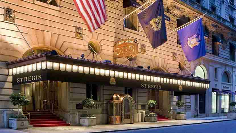 The entrance to The St. Regis New York. Image courtesy of Starwood.