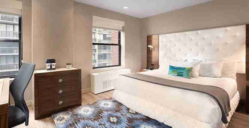 A standard King room at the TRYP by Wyndham Times Square. Image courtesy of Wyndham.