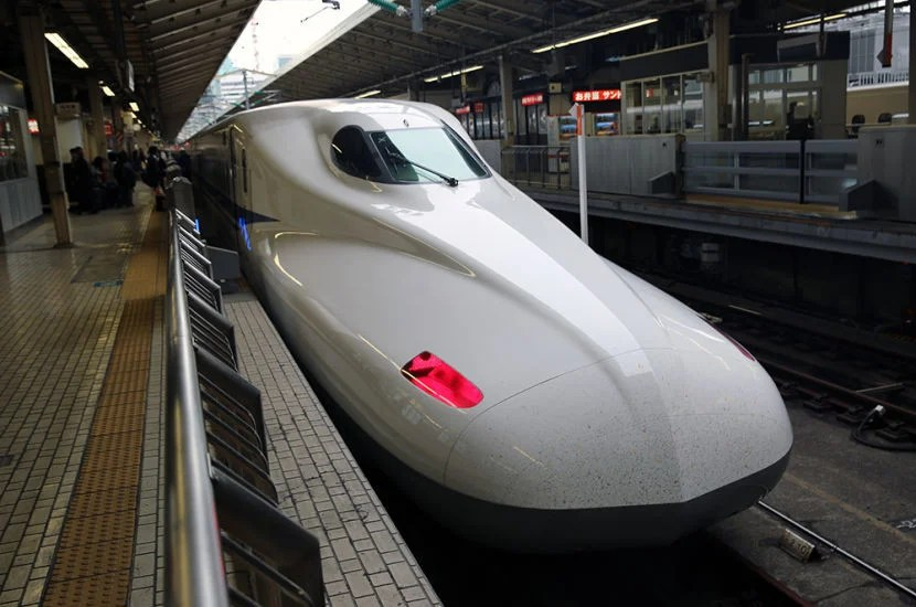 A first look at the bullet train.