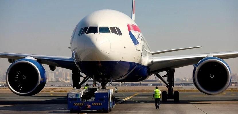 British Airways plane 777 Heathrow featured