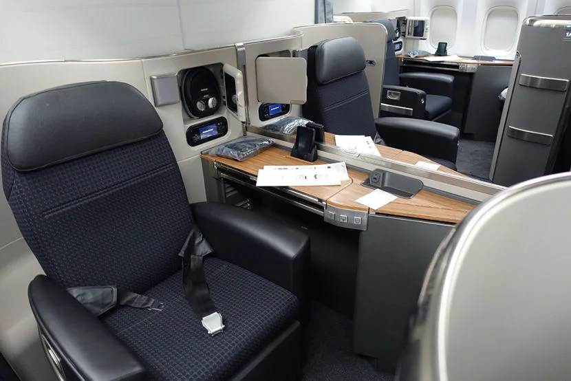 First class on AA's 777-300ER. Photo by Brian Kelly/TPG.