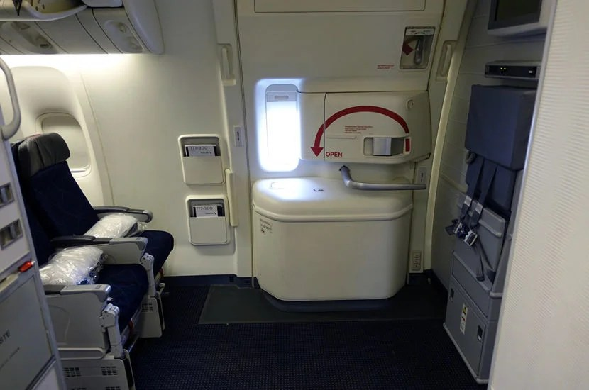 My window seat (31A) in an exit row on the return leg.