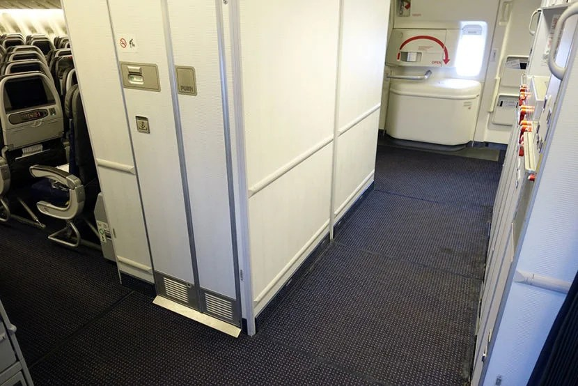 A meeting spot during the flight.