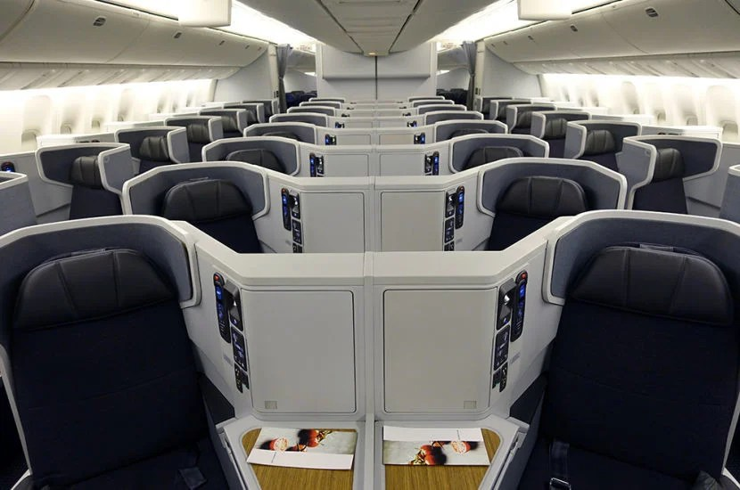 AA's business-class cabin on its 773.