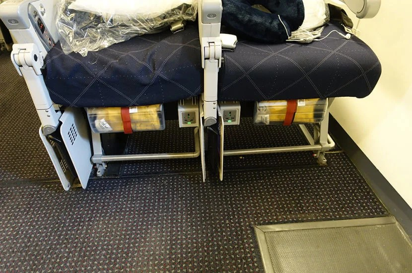 Each of the exit row seasts