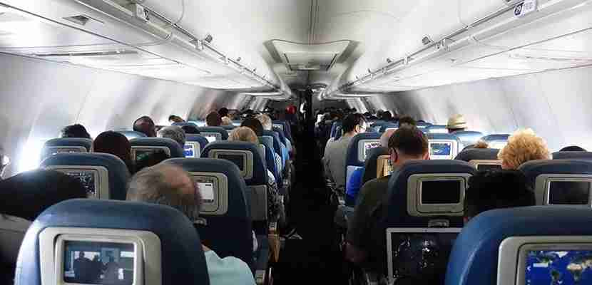 I was seated near the back of the aircraft.