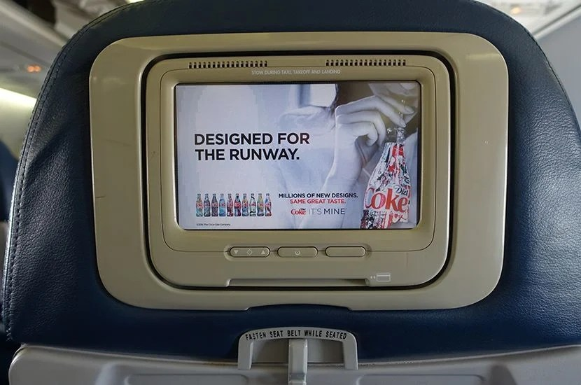 Delta's in-flight entertainment is a bit on the older side.