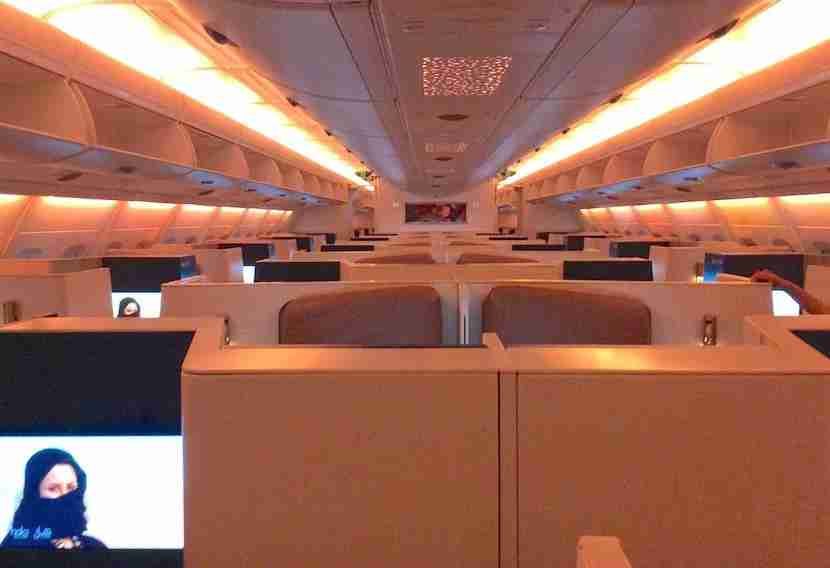 Just a quick look into the mood-lit cabin before other passengers started to board.