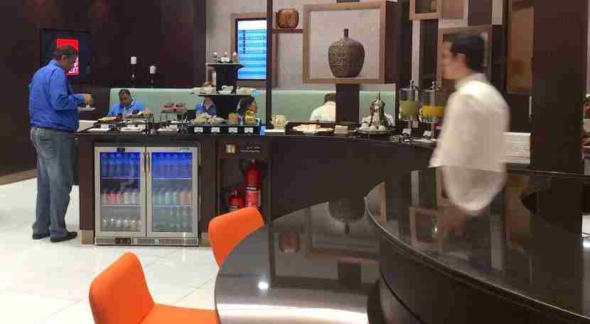 Inside the lounge.