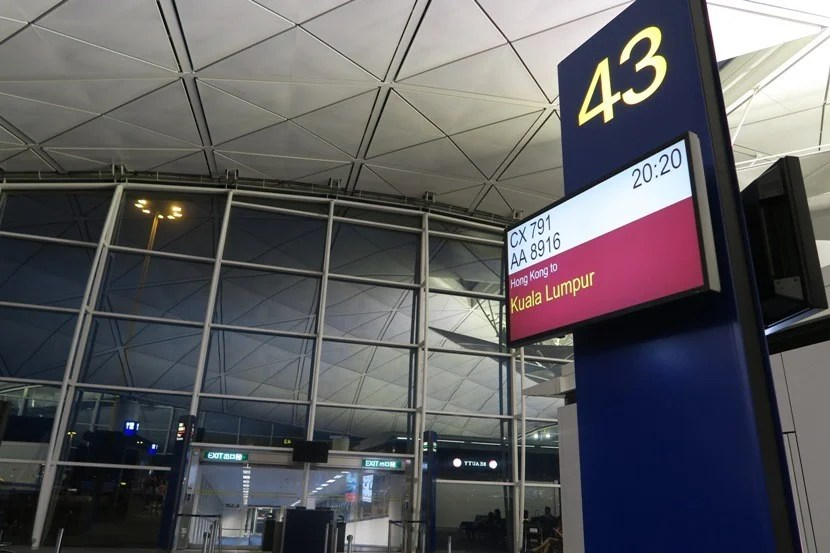 Our gate for ourevening flight to KUL.