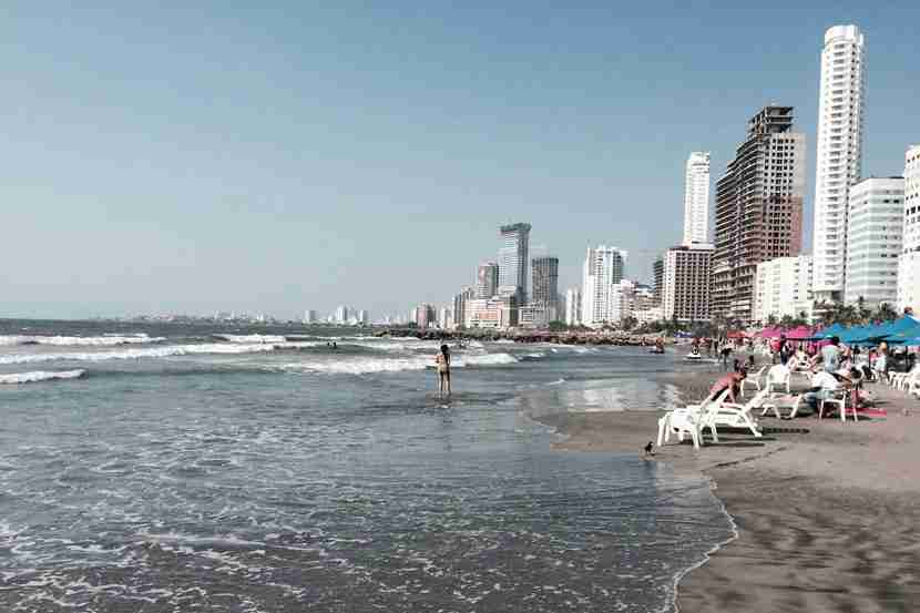 Bocagrande may not be the finest urban beach in South America, but its cool breeze, easy access and gentle surf work just fine.