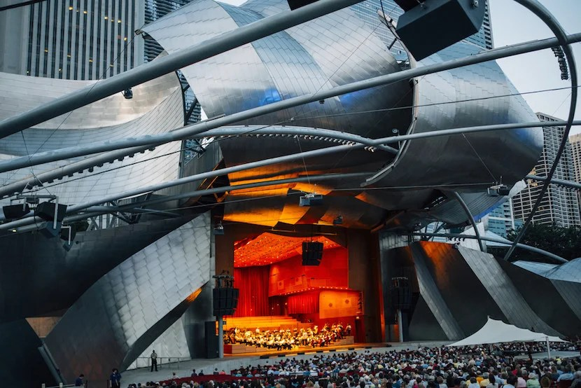 Pritzker Pavilion. Image courtesy of Choose Chicago.