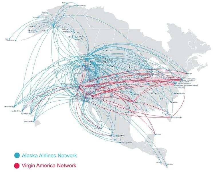 Image result for alaska virgin route map