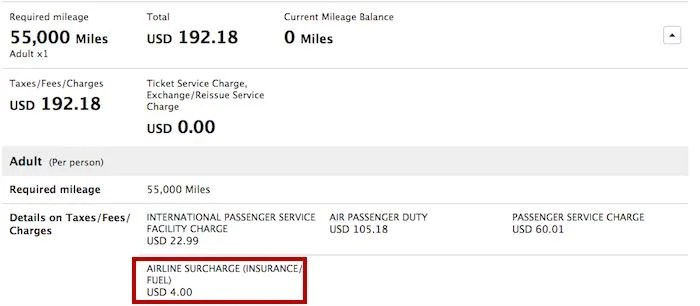 ANA only charges $4 for a fuel surcharge on NRT-LHR routings.