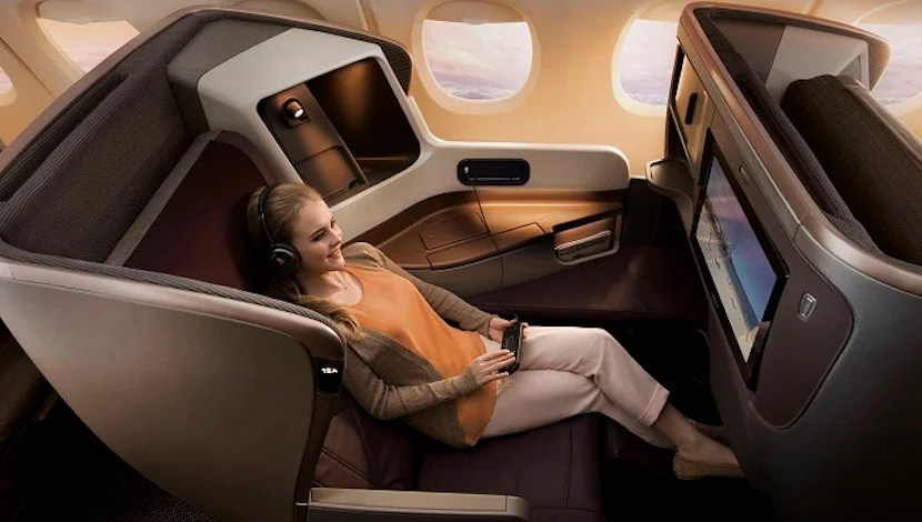 The new A350s will feature Singapore Airlines' new business-class seats. Image courtesy of Singapore Airlines.