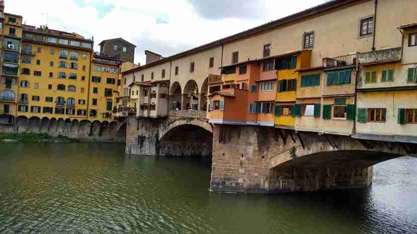 The Ponte Vecchio bridges the gap between today and yesterday.