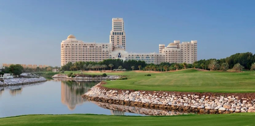 View from Al Hamra Golf Course at the Waldorf Astoria in Dubai. Image courtesy of the hotel.