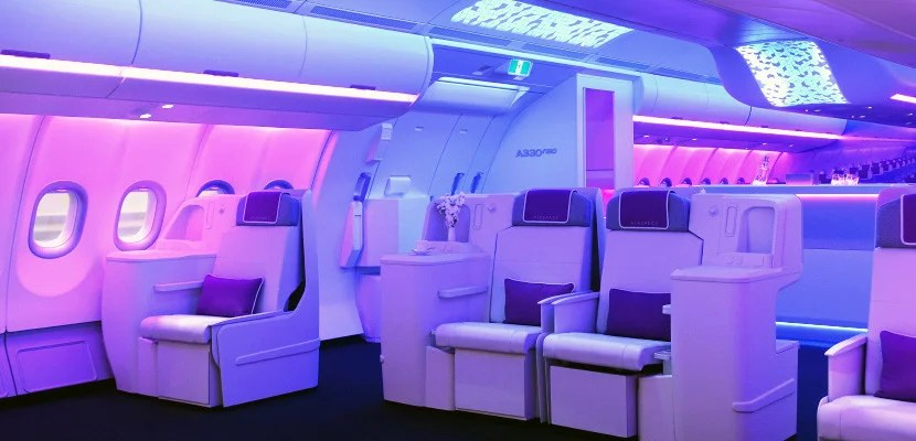 Take a look inside Airbus' A330neo cabin.