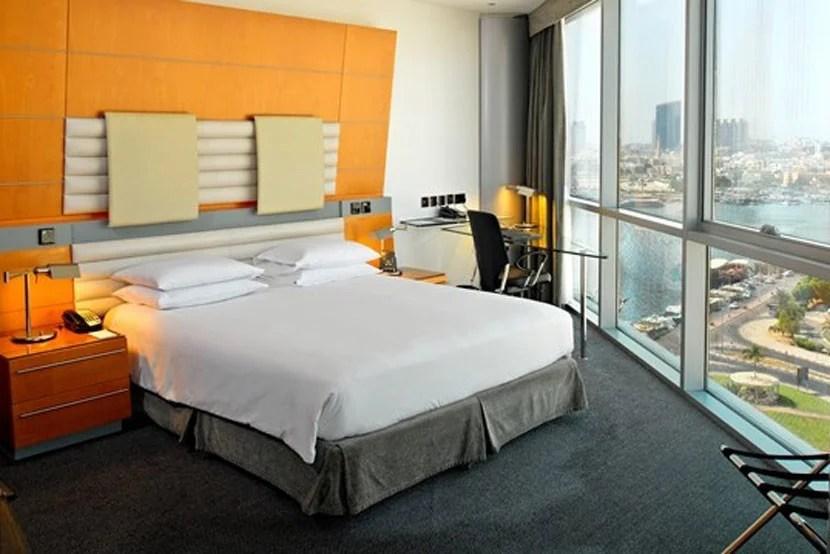 A standard room at the Hilton Dubai Creek. Image courtesy of Hilton.