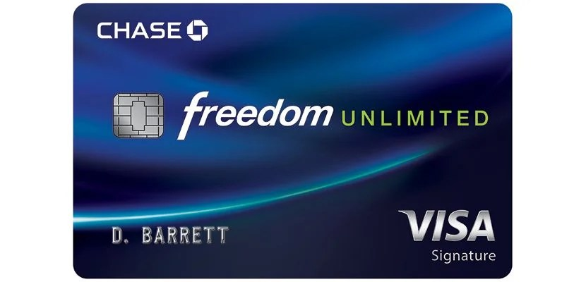 Chase Freedom Unlimited: Cash Back Credit Card