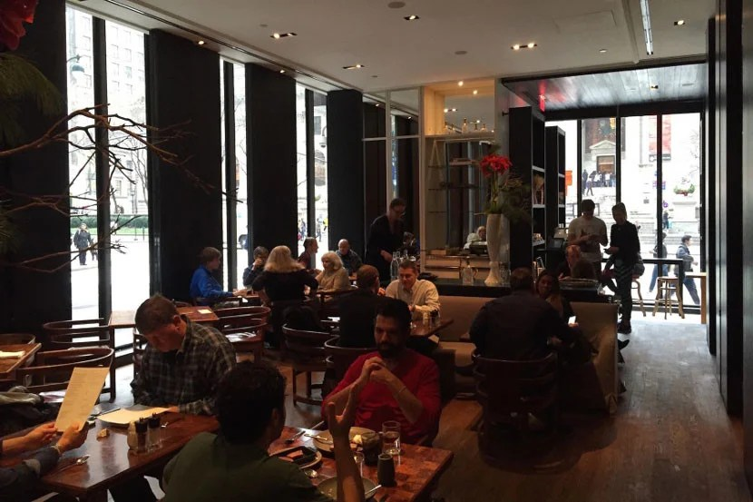 The Shop, one of two places to dine at the Andaz 5th Avenue.